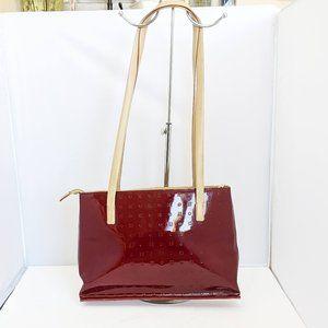 Arcadia Red Signature Patent Leather Shoulder Bag
